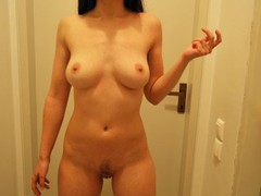 Wife comes out of her bedroom after having sex to show me her creampie movies at freekiloclips.com