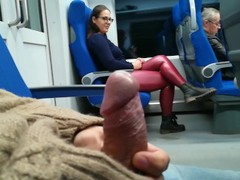 Stranger jerked and suck me in the train tubes