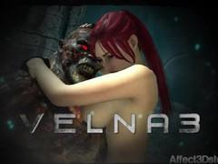 Amusteven's velna 3 trailer - release 9/24/16 - monster fucks hot red head videos