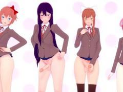 Doki doki futanari club: all girls taker  pov videos