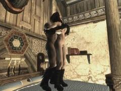 Skyrim - sex with my wife (serana) movies at freekiloporn.com