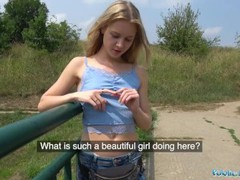 Public agent horny blondes tight body fucked for cash in forest movies at nastyadult.info