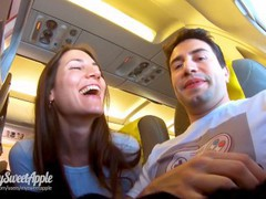 Risky blowjob in a plane to berlin - mile high club - amateur mysweetapple videos