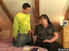 Nerdy granny is picked up and fucked, Big Ass, BBW, Big Tits, Brunette, Hardcore, Mature, Reality videos