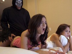 Trick or treat fuck with my hot step sister and her friend, Babe, Big Dick, Brunette, Hardcore, Pornstar, POV, Small Tits, Threesome, Popular With Women, Exclusive movies at freekilomovies.com