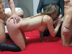 Amateur gang bang orgy with three guys. wetkelly, Orgy, Amateur, Blowjob, Bukkake, Party, Gangbang, 60FPS, Exclusive, Verified Amateurs tubes