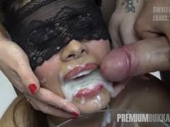 Premium bukkake - victoria swallows 81 huge mouthful cum loads, Amateur, Brunette, Bukkake, Gangbang videos