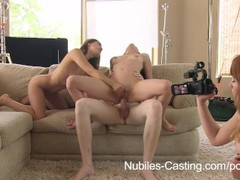 Nubiles casting - an unexpected threesome for porn tryout, Pornstar, Teen (18+), Threesome, Popular With Women, Casting movies at freekiloporn.com