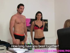 Femaleagent sexy threesome with spanish couple, Babe, Pornstar, Small Tits, Threesome, Popular With Women, Casting movies at freekiloclips.com