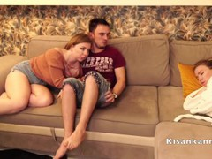 My first threesome! only i fucked her sister while she was close her eyes, Amateur, Babe, Blonde, Blowjob, Reality, Russian, Exclusive, Verified Amateurs, Cuckold movies