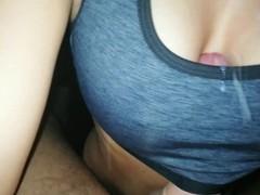 Amazing creampie during titfuck with bra, Amateur, Big Dick, Big Tits, Brunette, Fetish, Exclusive, Verified Amateurs tubes