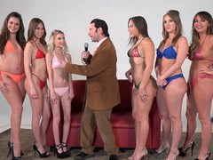 Girling - abella d, charlotte c and harley j in lesbian oil toy action  videos