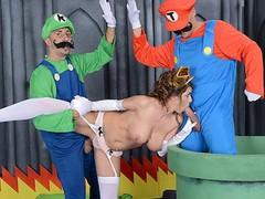 Mario and luigi parody double stuff - brazzers, Bondage, Pornstar, Funny, Threesome, Parody, Cosplay movies at kilomatures.com