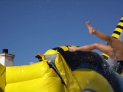 World's biggest lube slide uncensored by pornhub lubricants, Funny, Music, Behind The Scenes movies at freekiloclips.com