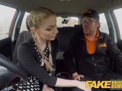 Fake driving school busty blonde georgie lyall gets customer satisfaction tubes