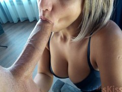 Blowjob for huge cock! amazing!, Amateur, Big Dick, Big Tits, Blowjob, Handjob, Teen (18+), POV, Verified Amateurs tubes