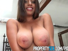 Propertysex - potential client impressed by big natural tits, Babe, Big Dick, Big Tits, Brunette, Hardcore, Latina, Pornstar, Reality, Popular With Women movies at find-best-pussy.com