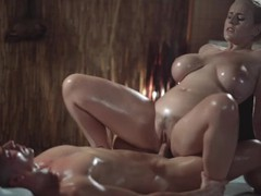 Massage rooms sexy milf with huge natural tits gives oily titwank, Big Ass, Big Tits, Hardcore, Mature, MILF, Pornstar, Massage, Old/Young movies at freekiloclips.com