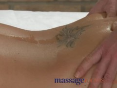 Massage rooms busty girl is sensually oiled and penetrated deep for orgasm, Big Tits, Pornstar, Popular With Women, Massage videos