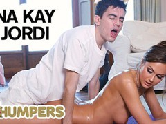Lil humpers - perv lil masseuse jordi makes love with big tit milf tina kay, Big Dick, Big Tits, Brunette, MILF, Pornstar, Massage movies at freekiloclips.com