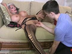 Hot cougar stepmom fucks her young stepson, Big Tits, Fetish, Hardcore, Mature, Pornstar movies