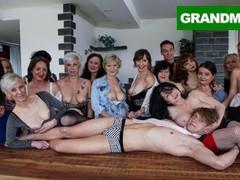 Biggest granny fuck fest part 1, Orgy, Amateur, Big Ass, Big Dick, Blowjob, Hardcore, Mature, Pornstar, Party movies