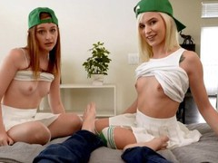 Got lucky with my stepsis and her friend on st pattys day s8:e12, Big Dick, Blonde, Hardcore, Pornstar, Teen (18+), POV, Red Head, Small Tits, Threesome movies at freekilosex.com