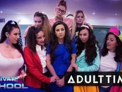 Girlcore private school- lesbian orgy videos