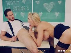 Naughty teacher brandi love fucks her student - brazzers, Big Tits, Blonde, MILF, Pornstar, Popular With Women, School movies at freekiloclips.com