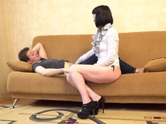 Milf cherry despina gives a blowjob and rides her younger lover's dick, Couple, Hardcore, Brunettes, MILF, High Heels, Blowjob, Small Tits, Pussy, Shaved Pussy, Cowgirl videos