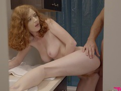 Redhead cutie abby rains gives a sloppy bj and gets dicked, Couple, Hardcore, Redhead, Blowjob, Missionary, Doggystyle, Pussy, Natural Tits movies at freekilosex.com