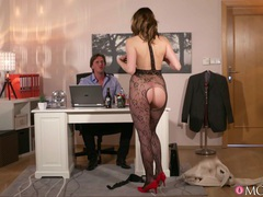 Horny babe in provocative lingerie seduces her boss for a quickie, Couple, Hardcore, Office, Housewife, Lingerie, Blowjob, Ball Licking, Missionary, Doggystyle, Natural Tits, Cumshot, Pussy, Pornstars movies at kilovideos.com