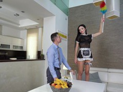 Dude with a large dick fucks stunning maid sasha rose in tight butt, Couple, Hardcore, Uniform, Maids, Pornstars, MILF, Upskirt, Toys, Handjob, Pussy Licking, Missionary, Anal, Pussy, Shaved Pussy, Piercing, Blowjob, Big Tits, Fake Tits, Cumshot, Creampie videos
