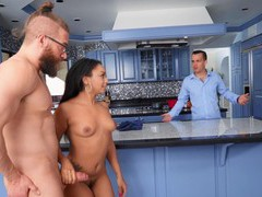 Cum in mouth ending after interracial sex with cali caliente, Couple, Hardcore, Interracial, Pornstars, Ebony, Long Hair, Handjob, Kitchen, Black Butt, Flexible, Cowgirl, Natural Tits, Cumshot, Facial, Housewife videos