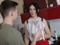 Shame4k mature bombshell steals a necklace and gets fucked for it, Brunette, Blowjob, Mature, Russian, Old/Young movies at kilomatures.com