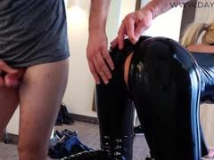 Hardcore bitch in latex mmf gets fucked in three holes - cum battle , Blonde, Cumshot, Hardcore, Pornstar, Anal, Threesome, German, Verified Models videos