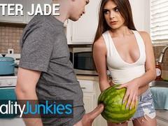 Reality junkies - kinky step sister winter jade walks in on step bro and his huge cock, Big Dick, Brunette, Fetish, Pornstar, Teen (18+), Small Tits movies