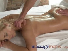Massage rooms tanned shaved busty young blonde intense orgasm, Big Tits, Blonde, Pornstar, Popular With Women, Massage videos