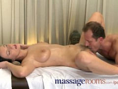 Massage rooms wet shaved pussy licked before big cock slides deep inside, Pornstar, Euro, Popular With Women, Massage videos