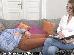 Lustygrandmas mature therapist takes patient's cum in mouth, Blowjob, Hardcore, MILF, Reality, Small Tits videos