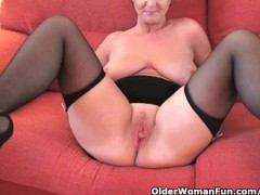 Classy granny in stockings shows off her big tits and fuckable pussy, Amateur, Big Tits, Mature movies at find-best-babes.com