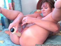 Classy granny fucks her pussy and asshole with dildos in hotel room, Masturbation, MILF, Anal movies at find-best-pussy.com