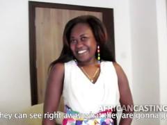 Big ass african slut at casting call, Amateur, Big Ass, Ebony, POV, Casting tubes