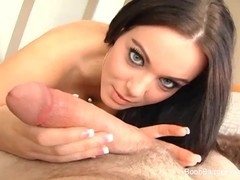 Teen with huge tits gets tit fucked, Big Dick, Big Tits, Pornstar, Teen (18+), POV videos
