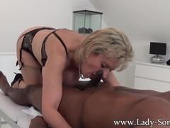 Lady sonia black guy massage, handjob, blowjob and titjob - the works!, Handjob, Interracial, Mature, Pornstar, Massage videos