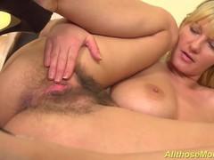 Extreme hairy mom alone at home, Big Tits, Blonde, Masturbation, MILF, Pornstar movies