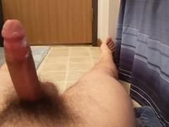 Teen edging in the bathroom, Amateur, Big Dick, Masturbation, Teen (18+), Solo Male, 60FPS, Exclusive, Verified Amateurs videos