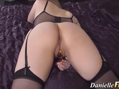 Pornstar babe in lingerie, Big Ass, Big Tits, Masturbation, Toys movies