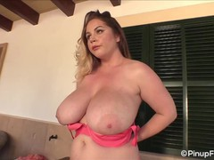 Holly garner uncovers her big melons with her peach bra, Babe, Big Tits, Blonde, MILF, Pornstar movies at find-best-pussy.com