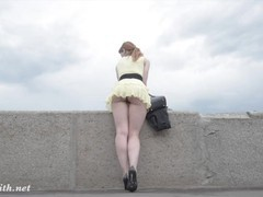 Jeny smith public flasher shares great upskirt views on the streets, Big Ass, Fetish, Public, Pornstar, Red Head, Music movies